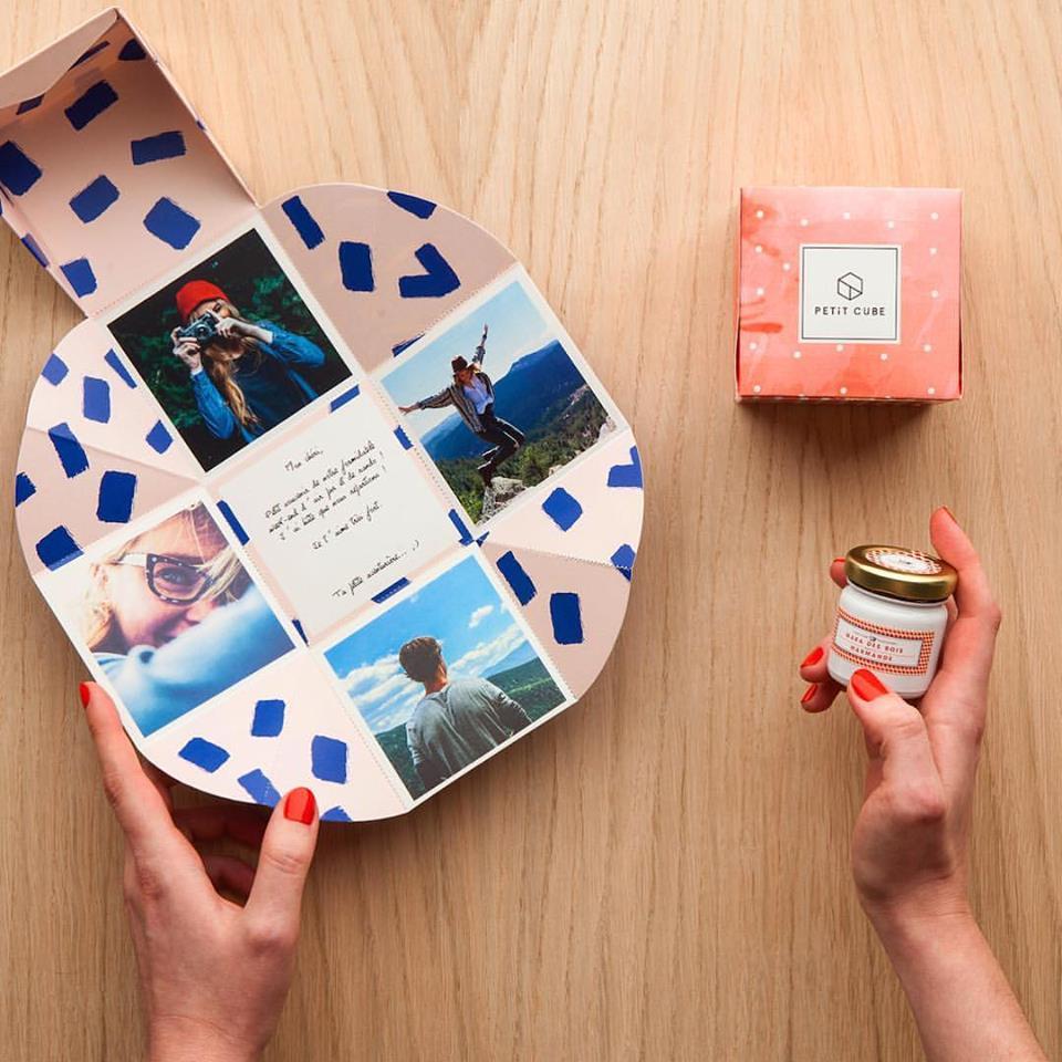 510c3a94d0b3 box cadeau femme petit cube personnalisé et original