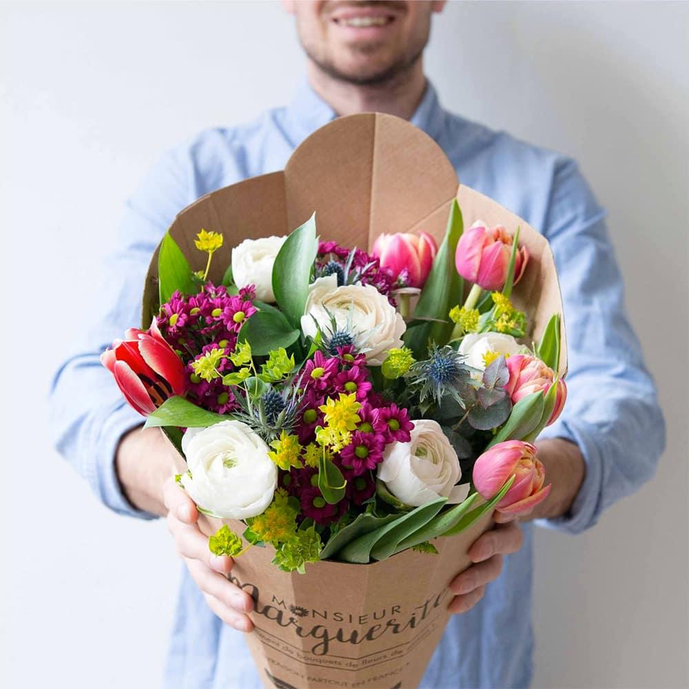 la box de bouquets de fleurs de saison par monsieur marguerite. Black Bedroom Furniture Sets. Home Design Ideas