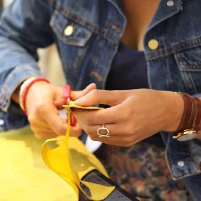 atelier fabrication sac à main