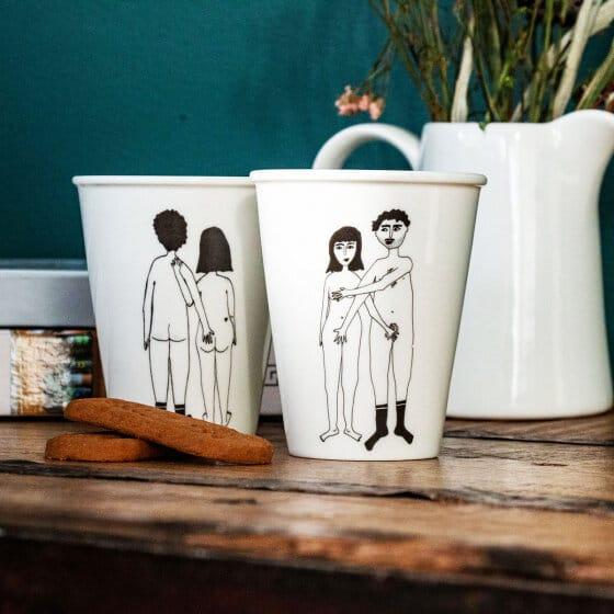 Mug en porcelaine by Helen B
