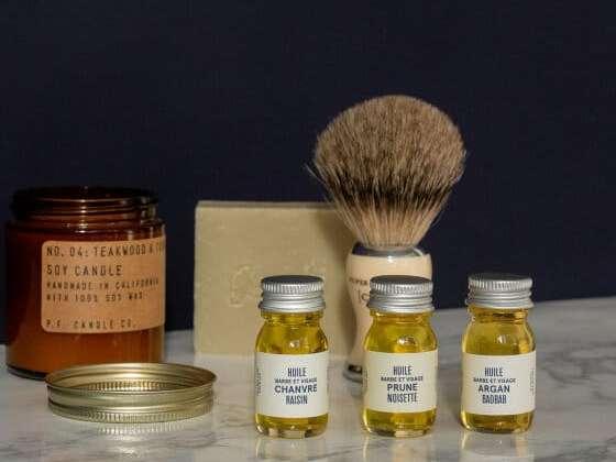Le trio d'huiles à barbe de la marque Le Baigneur