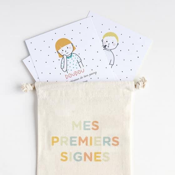 25 cartes inspirées de la langue des signes
