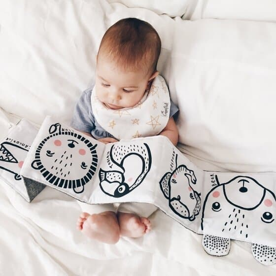 Un livre original en noir et blanc pensé pour leurs petits yeux