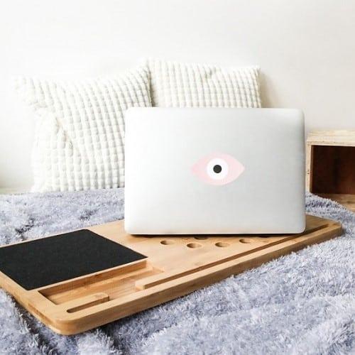 Support en bois pour ordinateur